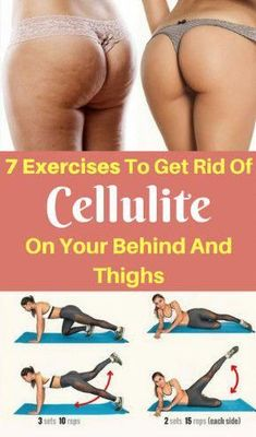 Cellulite is actually fat deposits just beneath the skin. It appears as lumps or dimples, usually near the buttocks and upper thighs, and is most common in women. Building muscle can make cellulite harder . Pilates Training, Pilates Workout, Butt Workout, Workout Routines, Woman Workout, Interval Training, Cardio, Cellulite Exercises, Abdominal Exercises