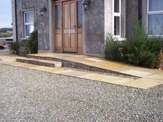 Large paver stone entry ramp