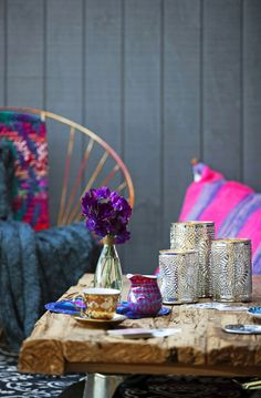:: interior spaces :: table top :: decor :: bohemian :: color :: pattern ::