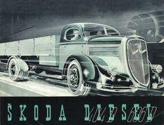 Skoda Bus Engine, Car Brochure, Truck Art, Bus Coach, Car Posters, Car Advertising, Vintage Trucks, Cool Trucks, Antique Cars