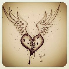 """""""Cross my Heart & Hope to Die"""" by Charles Edward Soto Pencil Sketch Drawing, Pencil Art Drawings, Art Drawings Sketches, Tattoo Sketches, Tattoo Drawings, Ink Tattoos, Tatoos, Broken Heart Drawings, Broken Heart Art"""
