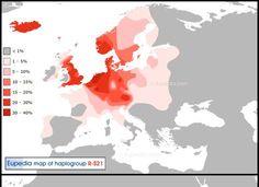 R1b U106 Frequency Map.