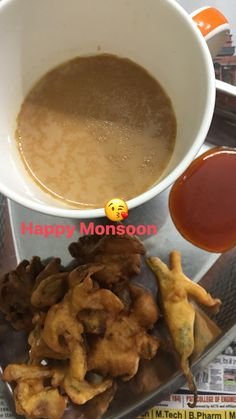 Onion and chilly pakoras... home cooked... with chai... deadly combination
