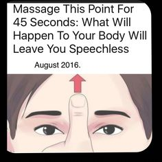 This massage can be wonders for your health. Alleviate headache, tension and disrupted sleep. Find the point between your eyebrows on the forehead. Sparking this point reduces muscle tension, improves blood flow, stimulates secretion of endorphins. It will quiet the mind, relieve headache, anxiety, insomnia, chronic fatigue, eye pressure, clear nasal blockage.