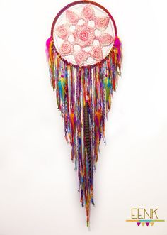 Fire Dance Gypsy Large Native Style Handwoven Dreamcatcher by eenk