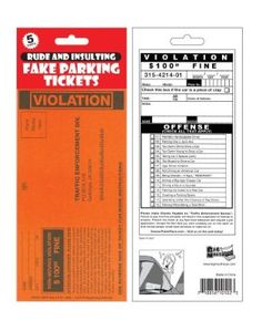 Big Mouth Toys 5 Pack Fake Parking Tickets - Allen said he really wants these.