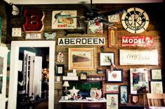 "My ""Good Stuff"" wall in ""Steamboats"" kitchen"