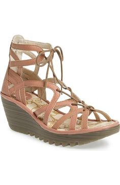 Fly London 'Yuke' Platform Wedge Sandal (Women) available at #Nordstrom