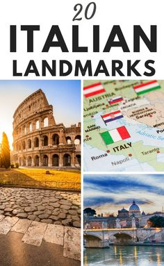 20 Incredible Landmarks in Italy. One of the most famous landmarks in Italy is the Colosseum, which was completed by Emperor Vespasian in Things To Do In Italy, Places In Italy, Famous Landmarks, Famous Places, Italy Travel Tips, Travel Europe, Travel Destinations, Italian Lakes, Italian Hot