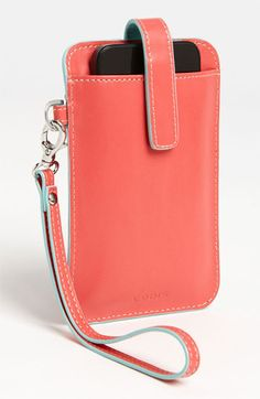 Available exclusively at Nordstrom! Lodis Audrey Smartphone Case in Cayenne with Sky.
