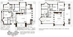 Frank Lloyd Wright's Oak Park, Illinois Designs: The Prairie Period Ennis House, Frank Lloyd Wright Style, May House, Illinois, Usonian, Vintage House Plans, Oak Park, Craftsman Bungalows, House Floor Plans