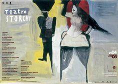 L'immagine di Gianluigi #Toccafondo per il manifesto della Stagione 2004-05 del #Teatro #Storchi di #Modena