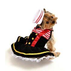 Sweetheart Sailor Dog Costume - Large