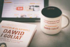 """Kubek motywacyjny inspirowany książką Malcolma Gladwella, """"Dawid i Goliat"""". #KubekMotywacyjny #DawidIGoliat #MalcolmGladwell #gadzet"""