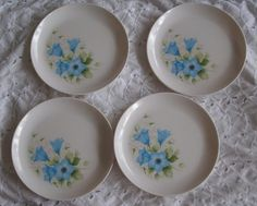 4 Vintage Melmac Floral Plates by shadygarden on Etsy, $9.99
