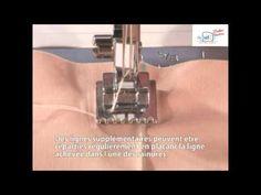▶ Pied nervures, élastique 7 rainures plis cousus www.stecker.be F058 F037N - YouTube