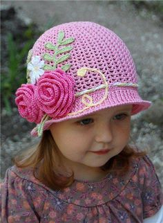 Chapéu rosa.