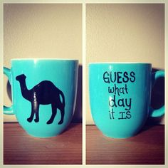 Blue hump day mug on Etsy, $14.00 by LavenderM