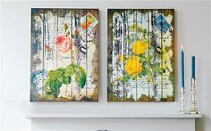 Pretty as a picture: Cox & Cox's distressed wood panels