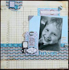 """""""Bryson"""" Layout by Authentique Paper DT member Natalie Dever"""