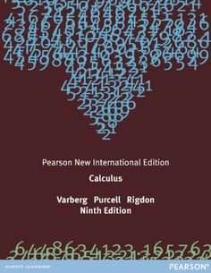 Calculus: Pearson New International Edition by Dale Varberg…