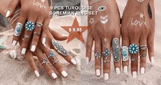 9 pcs ring set $9.95  http://allinonehere.com/product-category/rings/