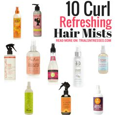 Wash day can't be every day so sometimes we need a refresher mid week. Here are 10 effective curl refreshing sprays for your natural hair.