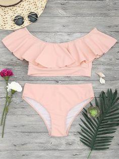 Ruffled Bathing Suits Straps Sexy Bikini Swimsuits 2019 For Women Sexy Bikini, Bikini Set, Bikini Beach, Bandeau Bikini, Bikini Tops, Summer Bathing Suits, Girls Bathing Suits, Cute Swimsuits, Cute Bikinis