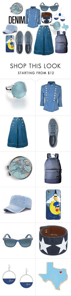 """""""Untitled #1618"""" by moestesoh ❤ liked on Polyvore featuring Ippolita, Pierre Balmain, Sacai, Superga, Chart Metal Works, Pacsafe, Marc Jacobs, Ray-Ban, Givenchy and GUESS"""