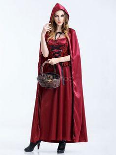 少し赤い乗馬フードの手袋との女性の衣装コスプレ衣装ハロウィン
