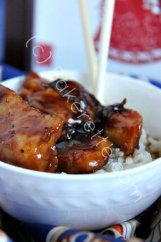 Teriyaki Chicken Recipe is the bomb! by www.bakerette.com on www.whatscookingwithruthie.com #recipes #chicken