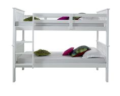 Happy Beds Atlantis White Finished Solid Pine Wooden Bunk Bed Frame: Amazon.co.uk: Kitchen & Home
