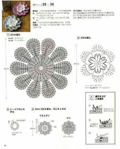 모티브등을이용한 수세미에 요즘 자그마한 인형들도 수세미로 몇몇가지 모아봅니다 출처 pin Crochet Flowers, Crochet Puff Flower, Crochet Flower Patterns, Crochet Granny, Crochet Doilies, Crochet Stitches, Crochet Designs, Irish Lace, Free Pattern