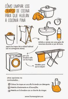 Cómo limpiar los trapos de cocina para que huelan ...