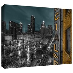 'L.A.' by Revolver Ocelot Photographic Print on Wrapped Canvas