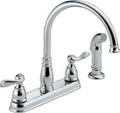 kitchen faucet Delta Windemere 21996LF Two Handle Kitchen Faucet, Chrome