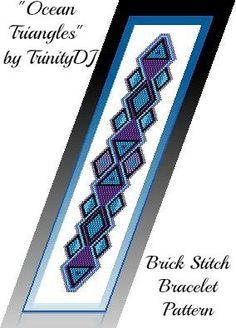 BP-BR-003  Ocean Triangles  Brick stitch Beadwork por TrinityDJ