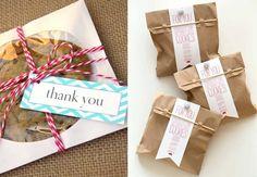 DIY - Faça você mesma - lembrancinha de noivado - cookies embalados
