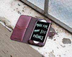 iPhone 4/4s Leather Wallet Case  no plastic  free by HANDandHIDE