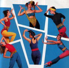 Danskin, Mademoiselle magazine, August 1986.