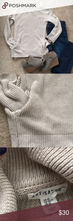 Turtleneck sweater with pockets! It has pockets! Enough said ❤️ In EUC  Fits up to a small   FYI- wedges are Lucky brand, jeans joe's, and watch MK 😊  I don't trade, but I accept reasonable offers ❤️ Bundle your favs for a private discount❤️ Let's be instagram homies! Mindy_arroyo Artisan Ny Sweaters Cowl & Turtlenecks