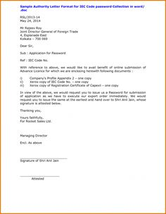 Authorization letter sample to pick up authorization letter sample letter format wordthorization word authorization collect passport sample templates spiritdancerdesigns Choice Image