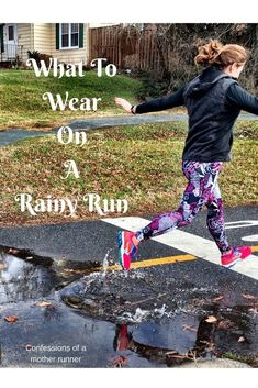 Running in the rain does not have to be a chore. Check out my tips and suggestions on what to wear Running Rain Gear, Running Equipment, Running In The Rain, Winter Running, Running Shorts Outfit, Best Running Shorts, Running Workouts, Running Tips, Running For Beginners