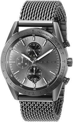 Michael Kors Men& Accelerator Gunmetal Watch An impressive masculine chronograph that looks like nothing else! Great with a suit, at work, or for a casual night out Amazing Watches, Cool Watches, Gents Watches, Michael Kors Men, Michael Kors Watch, Vintage Watches For Men, Sharp Dressed Man, Fashion Night, Gentleman Style