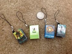 BOOK CHARMS WITH 72 QUOTES FROM THE BOOK INSIDE Books are Matched, Divergent, City of Bones and The Iron King