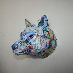 Wolf Head Faux Taxidermy