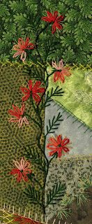floral stitching on crazy quilt Its in German but just the pic gives a good idea.