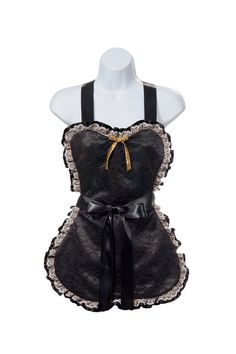 Sexy+women's+lace+on+satin+French+Maid+by+PinkButterflyAprons,+$32.50