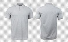 Grey Polo Mockup Front And Back Gray Polo Polo T Shirts For Men Polo