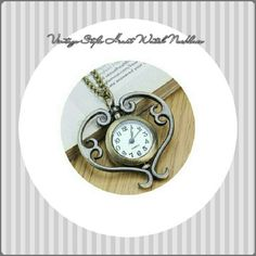 """?VINTAGE STYLE HEART WATCH NECKLACE VINTAGE STYLE WATCH NECKLACE Beautiful, 100% brand new Antique Quartz movement watch PENDANT Necklace. Material.                         Alloy Color.                               Bronze Pendant Size.                1.57 X 4"""" Chain Length.                 31.5""""  Get it for yourself or as a gift for someone special! Jewelry Necklaces"""